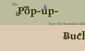 Pop-up-Papier-Tier-Buchstaben-Bilder-Buch